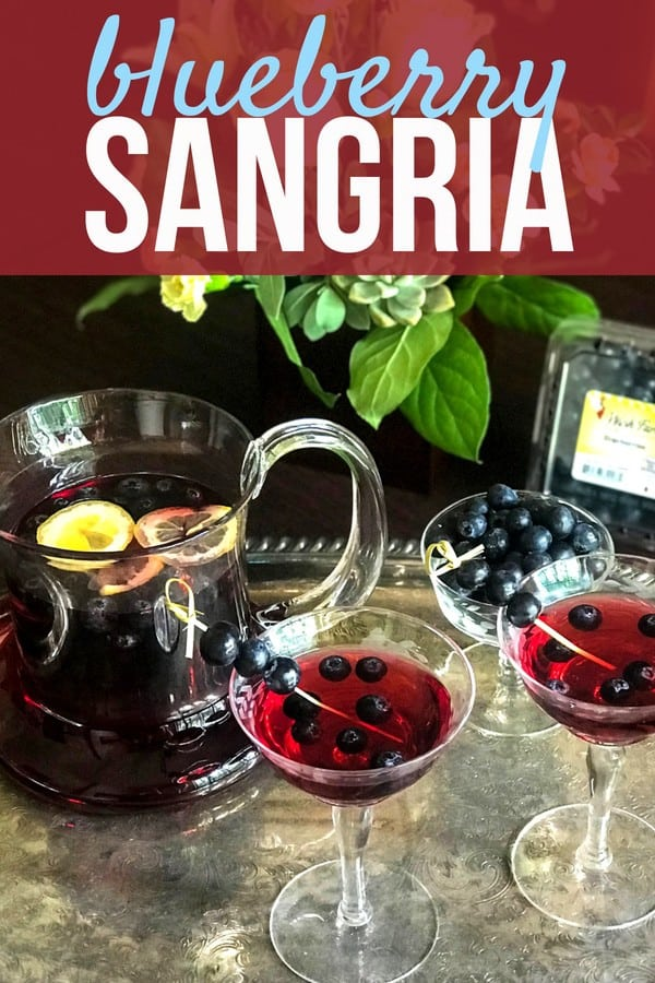Are you ready to try the best sangria you have ever tasted? You need this Blueberry Sangria in your life! Its fruity, rich, and zesty flavor makes it the perfect summer drink. Mix it up for a party and you'll wow your guests! This blueberry sangria using sauvignon blanc is simply irresistible. #SundaySupper #blueberryrecipe #mixeddrinks #sangria #drinkrecipes #sangriarecipe