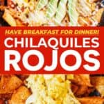 Chilaquiles Rojos pin image