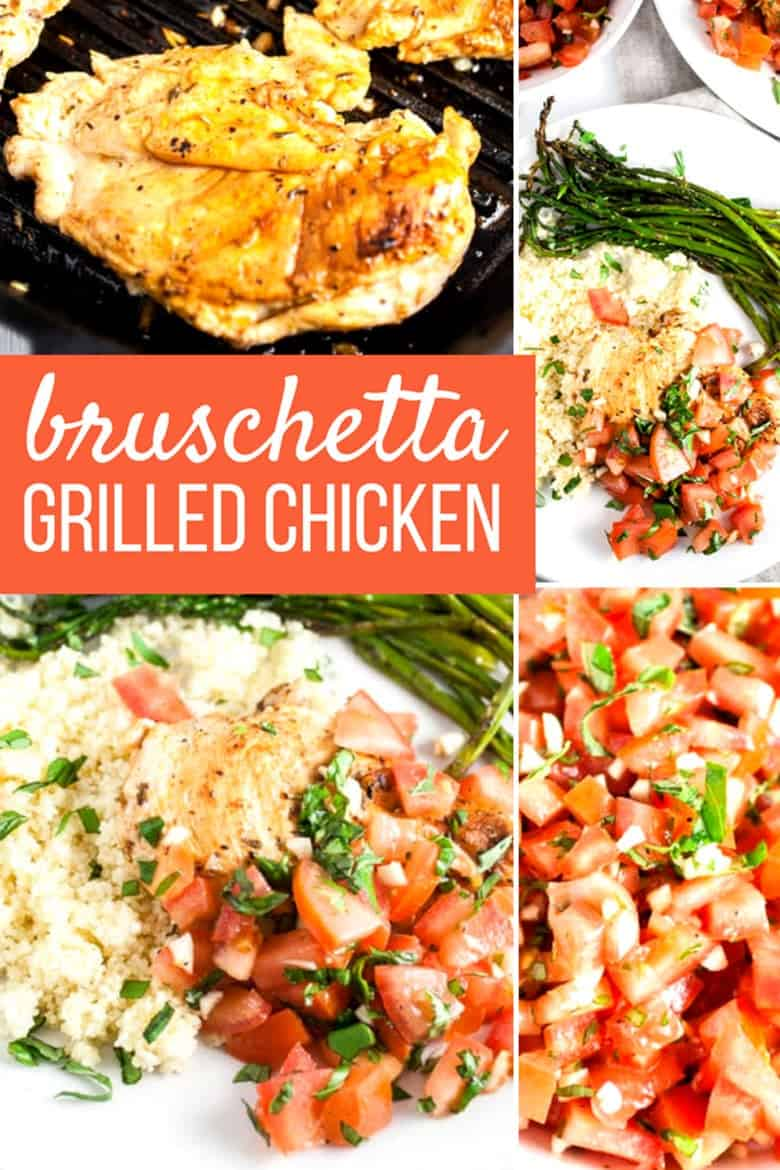 Grilled Bruschetta Chicken collage