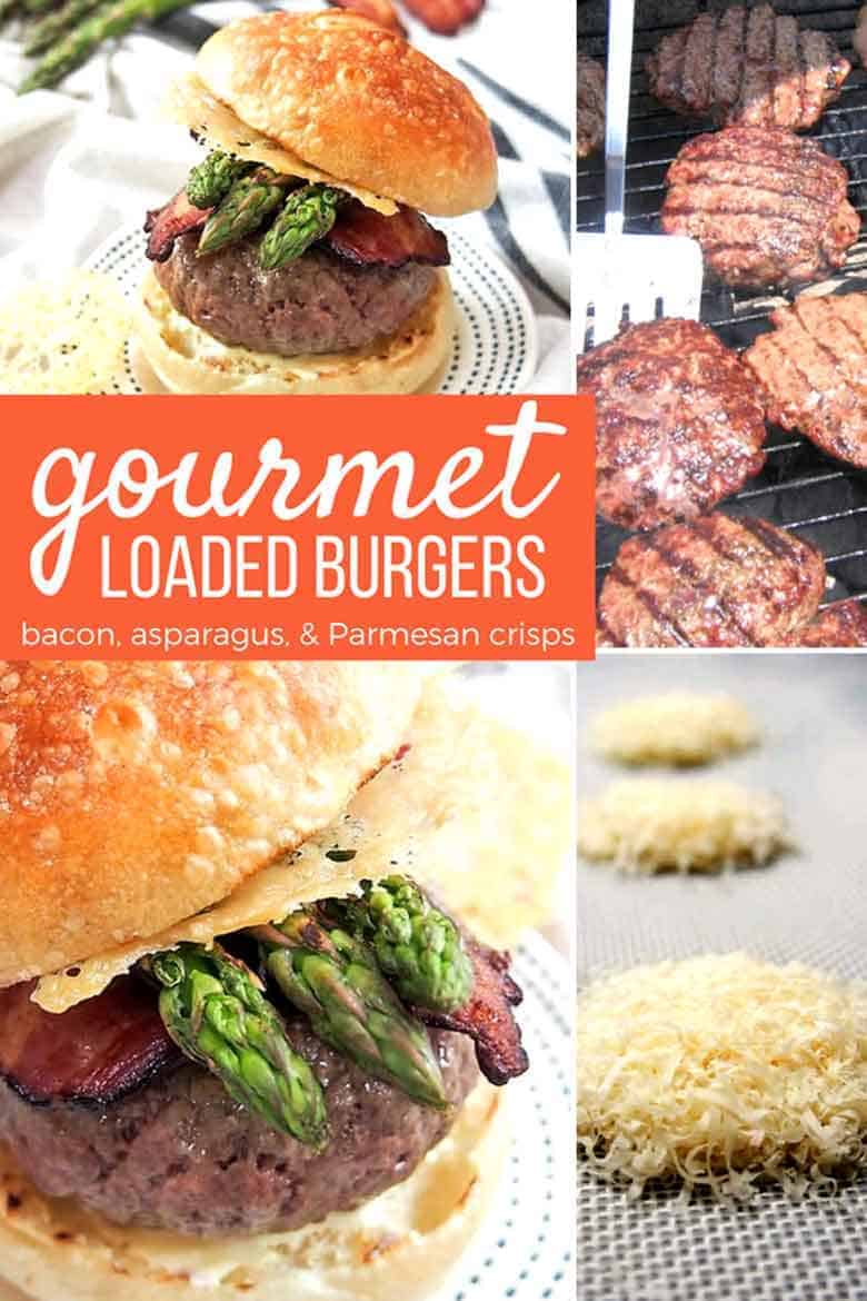 Loaded Burgers Pinterest collage