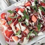 Watermelon Basil Salad featured