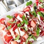 Save Watermelon Basil Salad on Pinterest for Later!