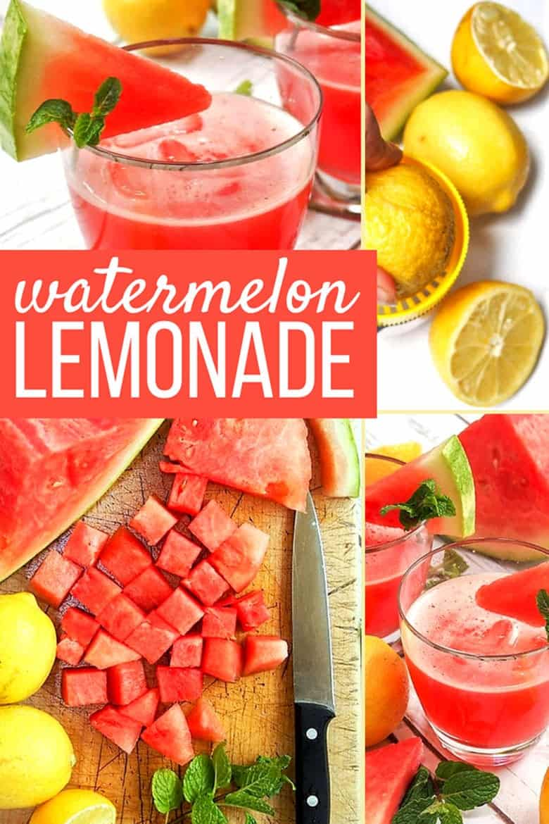 Watermelon Mint Lemonade collage
