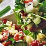 Save Greek Cauliflower Rice Salad on Pinterest for later!