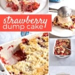 Strawberry Dump Cake Collage on Pinterest