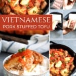 vietnamese stuffed tofu collage pinterest