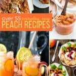 Peach recipes pin image