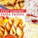 Puff Pastry Pizza Twists on Pinterest