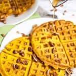 Pumpkin Waffles #sundaysupper