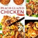Asian Peach Glazed Chicken Collage on Pinterest