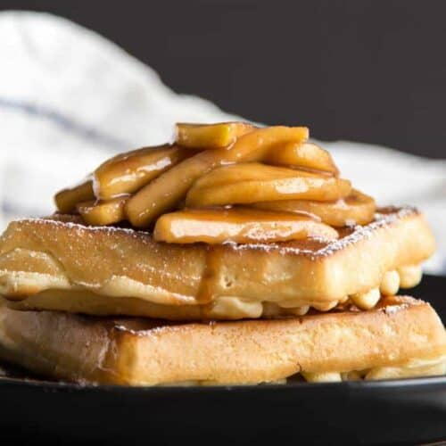 Sauteed Apples over waffles
