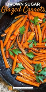 Save Brown Sugar Glazed Carrots on Pinterest for later!