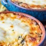 chorizo cheese dip with spinach pin