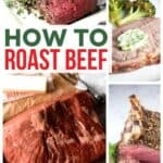 What cuts of meat are best for roasting?What are the serving suggestions for roast beef? Don't let these questions get in the way of making a roast beef dinner! Learn how to roast beef like a pro with these helpful tips. #SundaySupper #roastbeef #beeffoodrecipes #roastrecipes #holidayrecipes #holidaydinner #beefdinner
