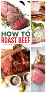 What cuts of meat are best for roasting? What are the serving suggestions for roast beef? Don't let these questions get in the way of making a roast beef dinner! Learn how to roast beef like a pro with these helpful tips. #SundaySupper #roastbeef #beeffoodrecipes #roastrecipes #holidayrecipes #holidaydinner #beefdinner
