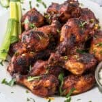 Slow Cooker Wings with Spicy BBQ Sauce are fall off the bone tender chicken wings, cooked low and slow and filled with flavor. These are perfect party food, game day food - share food at it's best.
