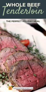 Whole beef tenderloin pin image