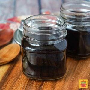 Homemade Teriyaki Sauce in a glass