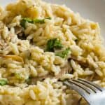 Save Instant Pot Risotto on Pinterest for later!