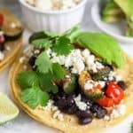 Vegetarian Taco Recipe for Two #SundaySupper
