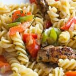 Save Rasta Pasta Recipe for Two on Pinterest