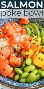Save Salmon Poke Bowl Recipe for Two on Pinterest
