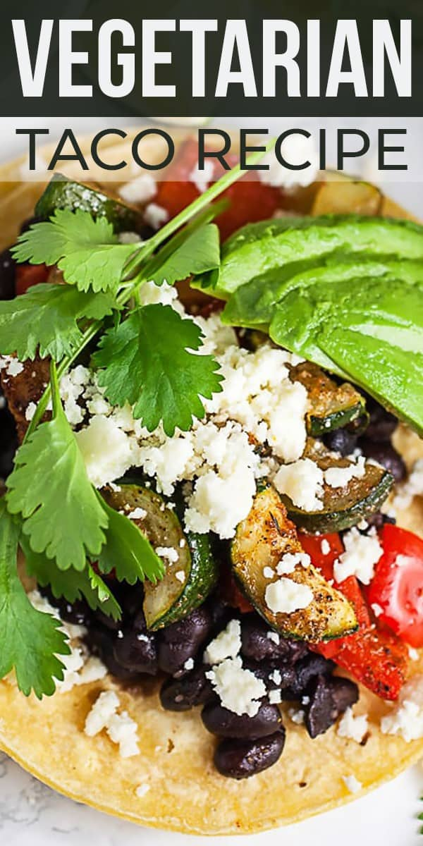 Save Vegetarian Taco Recipe for Two on Pinterest