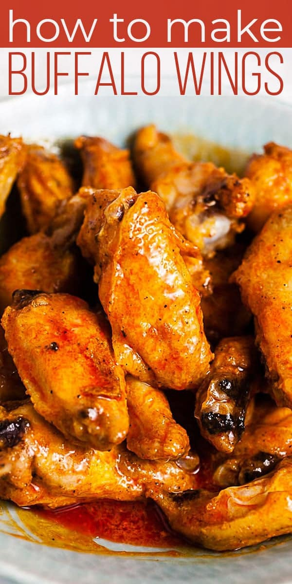 Buffalo wings are a game day FAVORITE! Learn how to make BUFFALO WINGS in a few easy steps. Homemade buffalo wings are baked and tossed in buffalo sauce. #SundaySupper #buffalowings #buffalochicken #buffalosauce #saucerecipe #easyrecipe #sauce #chickenwings #gamedayrecipe