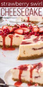 Save Strawberry Swirl Cheesecake on Pinterest