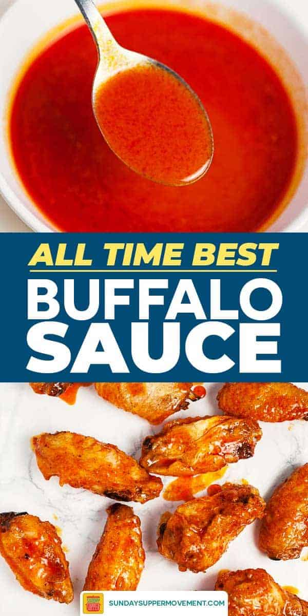 Save buffalo sauce on Pinterest for later!