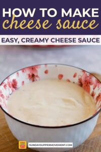 how to make cheese sauce pin image