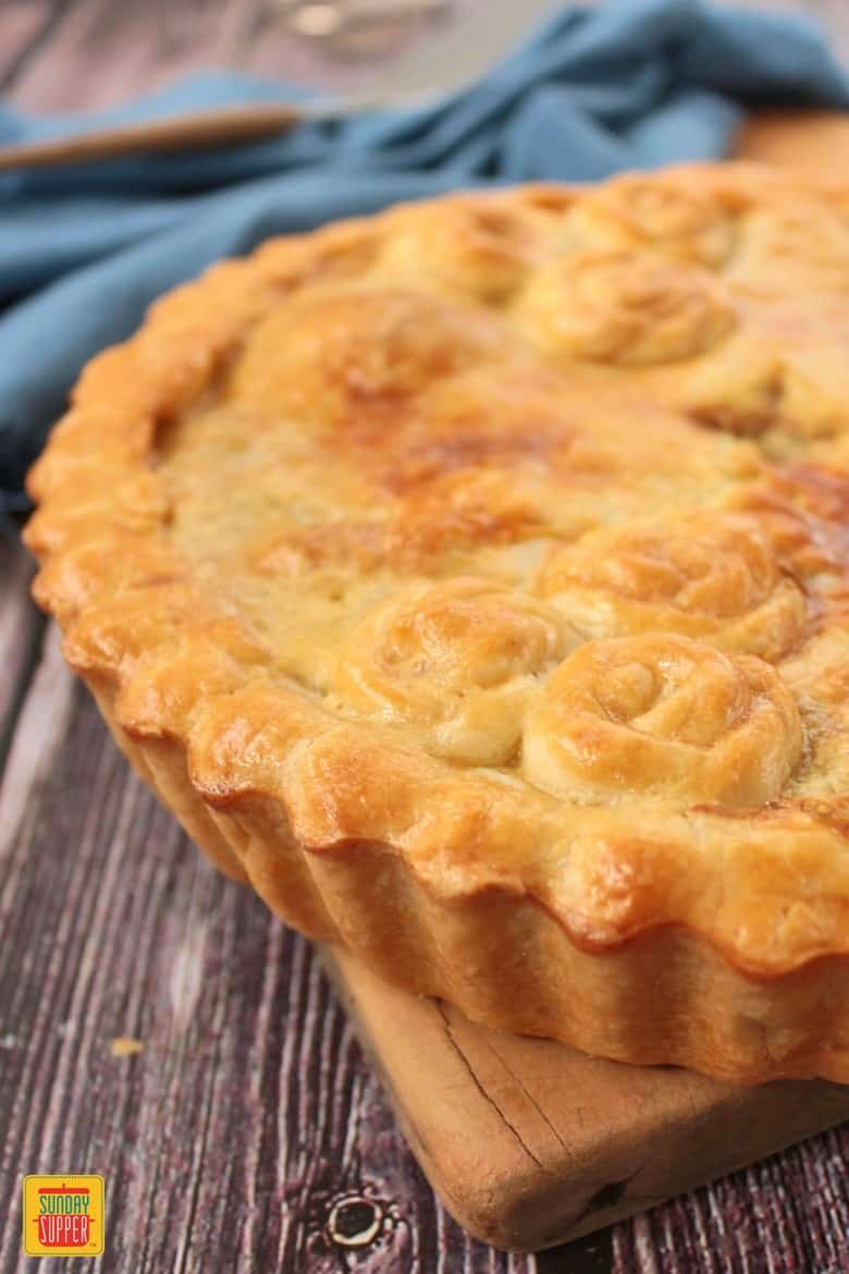 Close up on the Chicken and Mushroom Pie