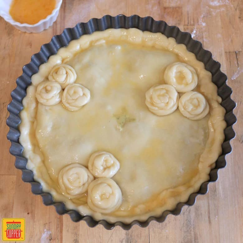 Finished Chicken and Mushroom Pie before going in the oven