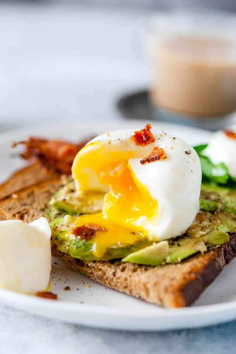 Instant Pot Breakfasts: Instant pot poached eggs on toast with avocado by Imagelicious