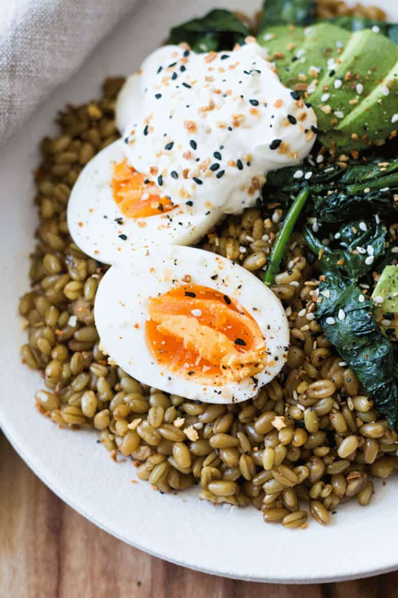 Instant pot breakfasts: Cumin spiced farro breakfast bowl recipe by Whole Food Bellies