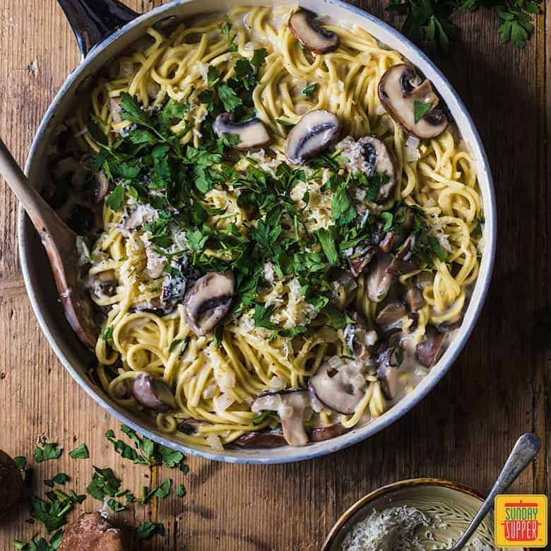 Creamy Mushroom Pasta Sauce Sunday Supper Movement