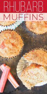 Save Rhubarb Muffins on Pinterest