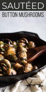 Save Button Mushrooms Recipe on Pinterest