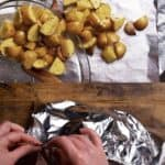 transfer potatoes to foil and wrap