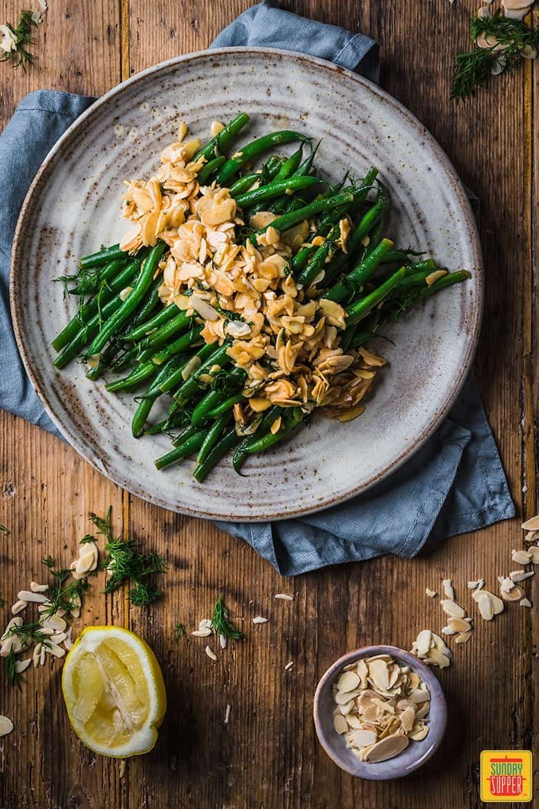 green bean almondine side dish