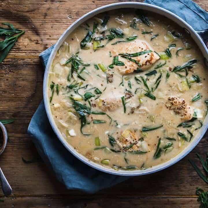 Chicken and leek recipe