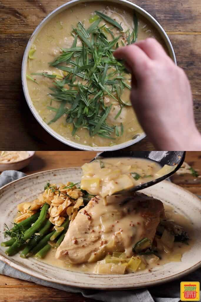 How to make chicken and leek recipe: finishing the recipe