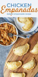 Save Chicken Empanada Recipe on Pinterest for later!