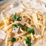 Save Fettuccine Alfredo with Chicken on Pinterest