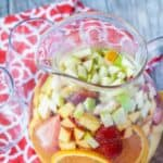 Moscato sangria in a pitcher