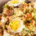 spanish potato salad pin image