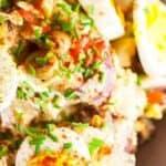 save Spanish Potato salad on Pinterest for later!