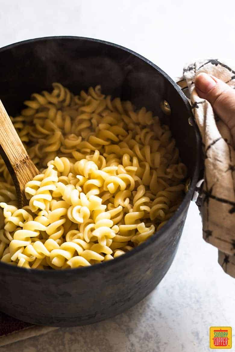 fusilli pasta for Ina Garten Mac and Cheese