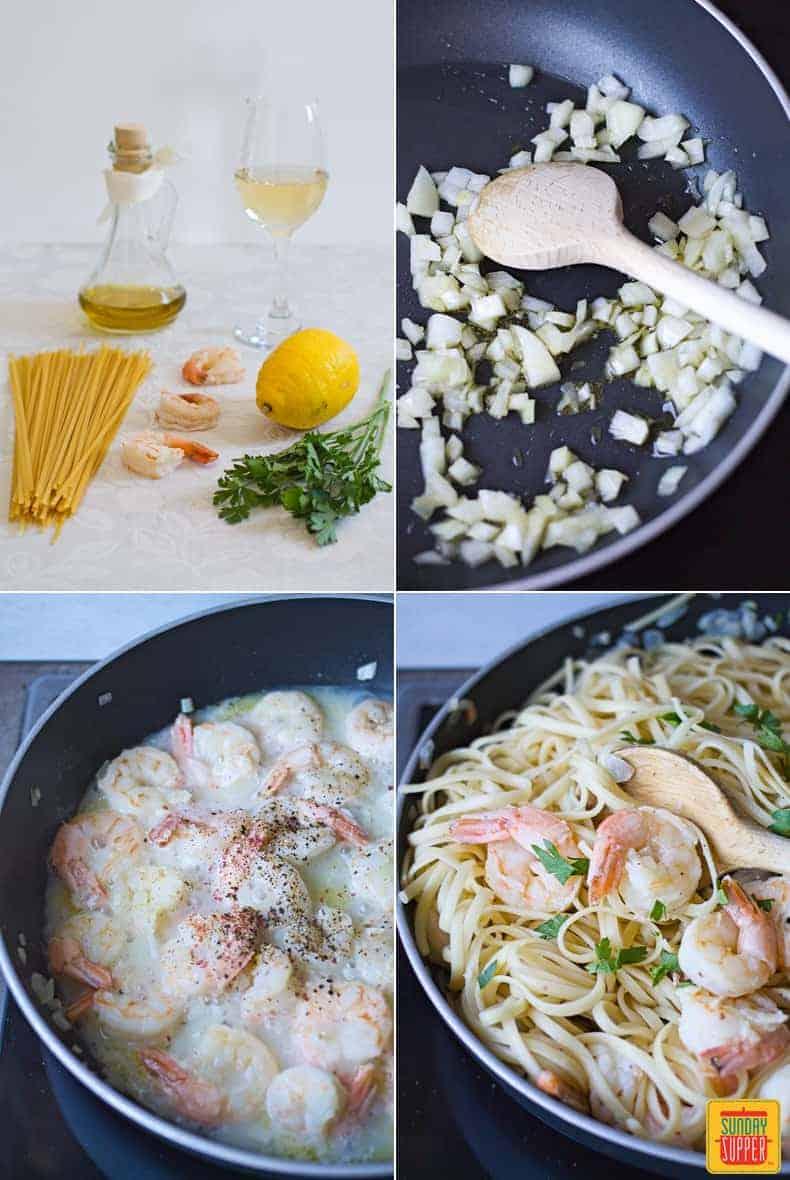 Shrimp Scampi Linguine step by step