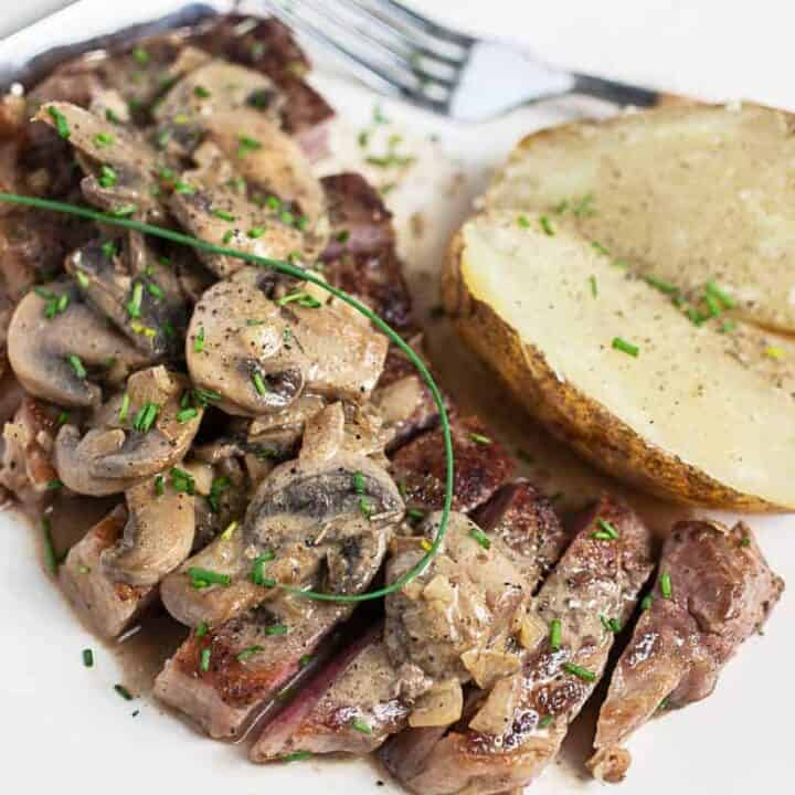 Steak Diane Recipe #SundaySupper